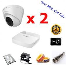 Lắp đặt camera trọn bộ 2 camera KB-MV102D4